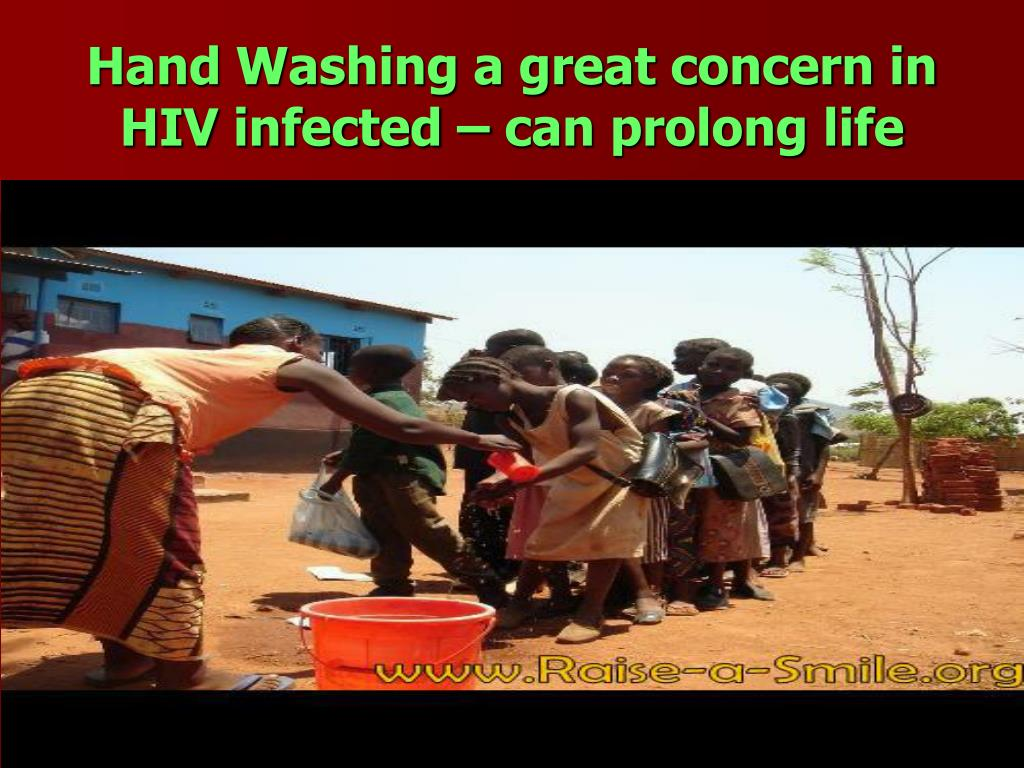 Hand Washing a great concern in HIV infected – can prolong life