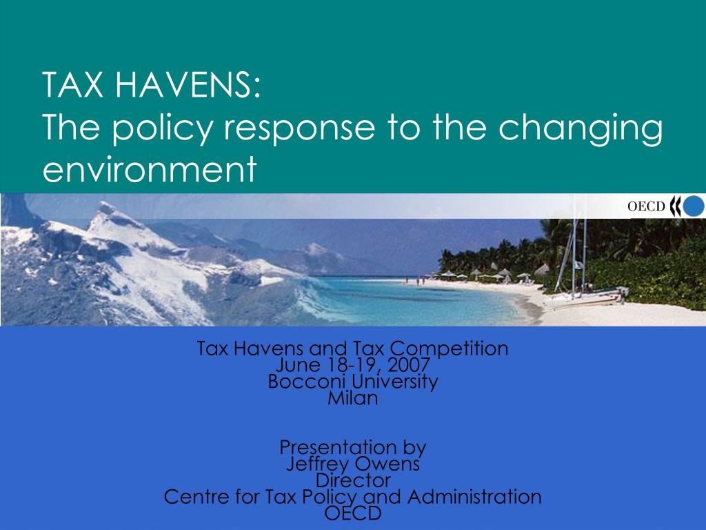 tax havens the policy response to the changing environment