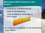 what does oecd mean by a tax haven