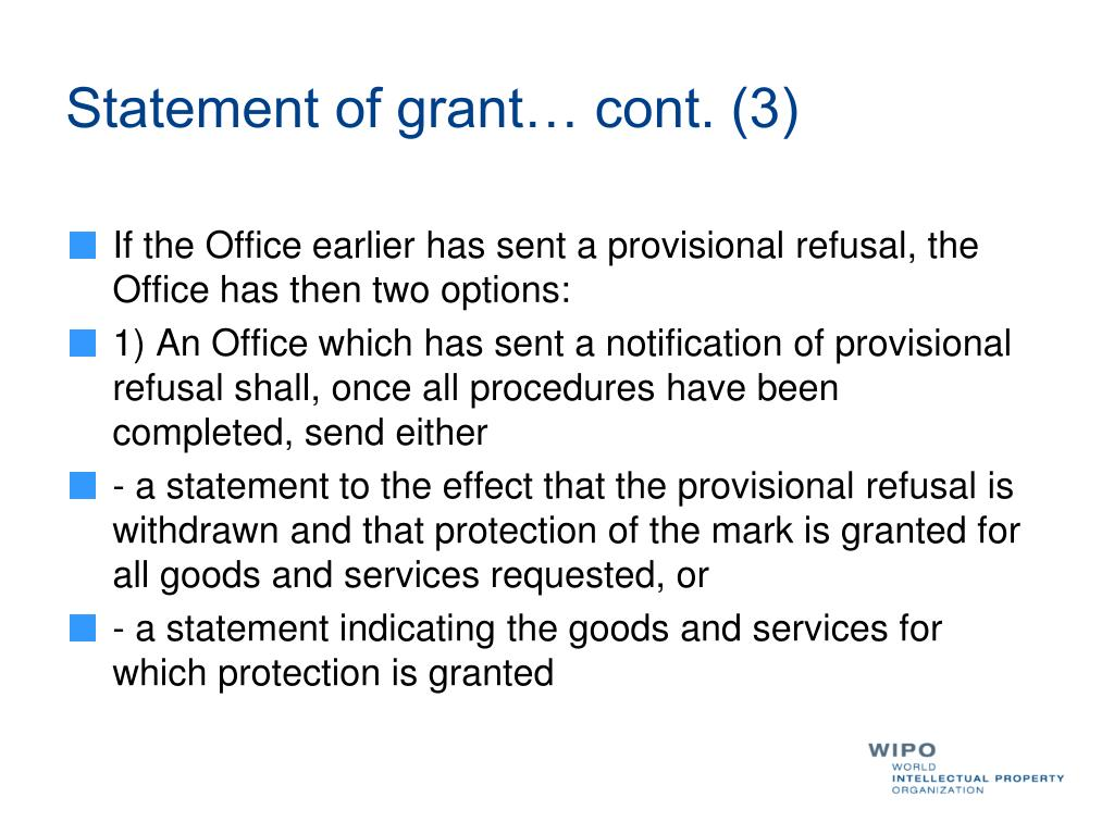 Statement of grant… cont. (3)