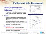 flatback airfoils background
