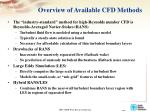 overview of available cfd methods
