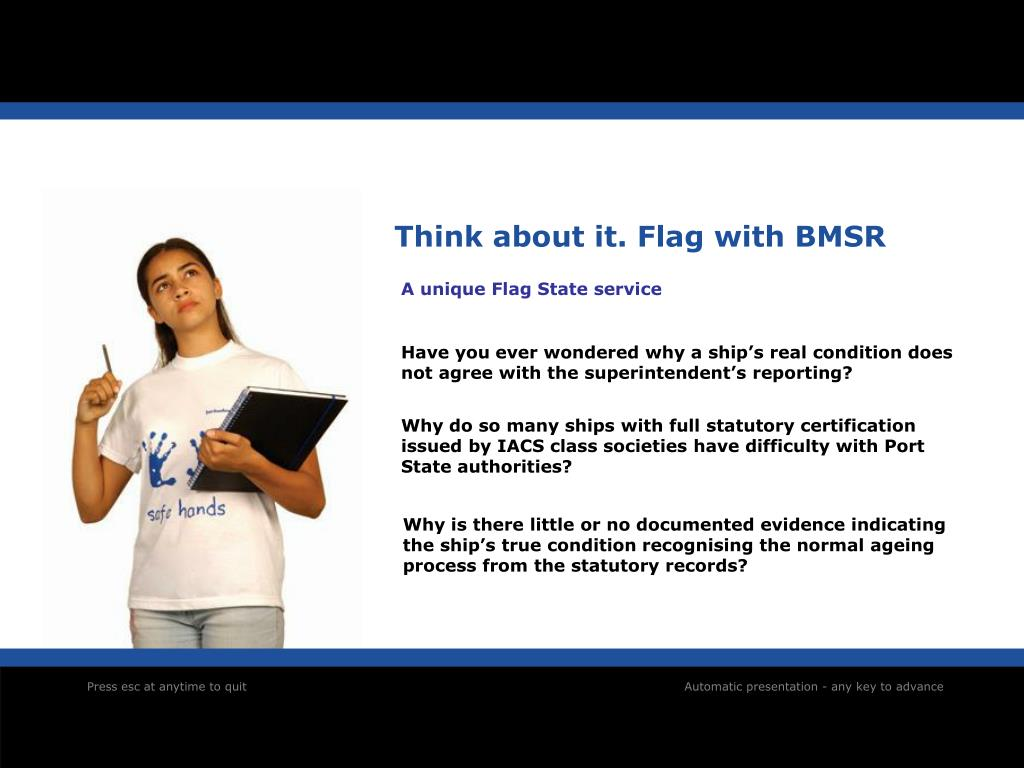 Think about it. Flag with BMSR