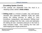 circulating system cont d