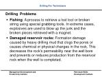drilling problems