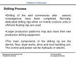 drilling process
