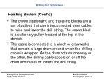 hoisting system cont d