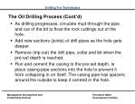 the oil drilling process cont d