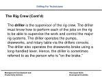 the rig crew cont d