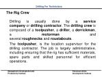 the rig crew
