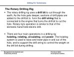 the rotary drilling rig