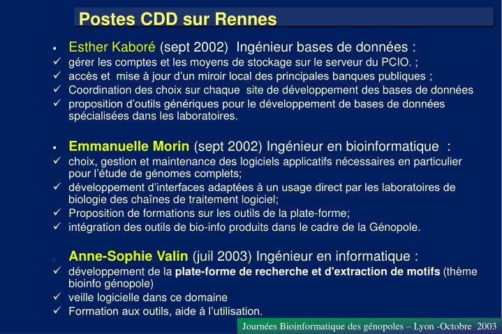 Postes CDD sur Rennes