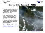 example of fire detection by modis
