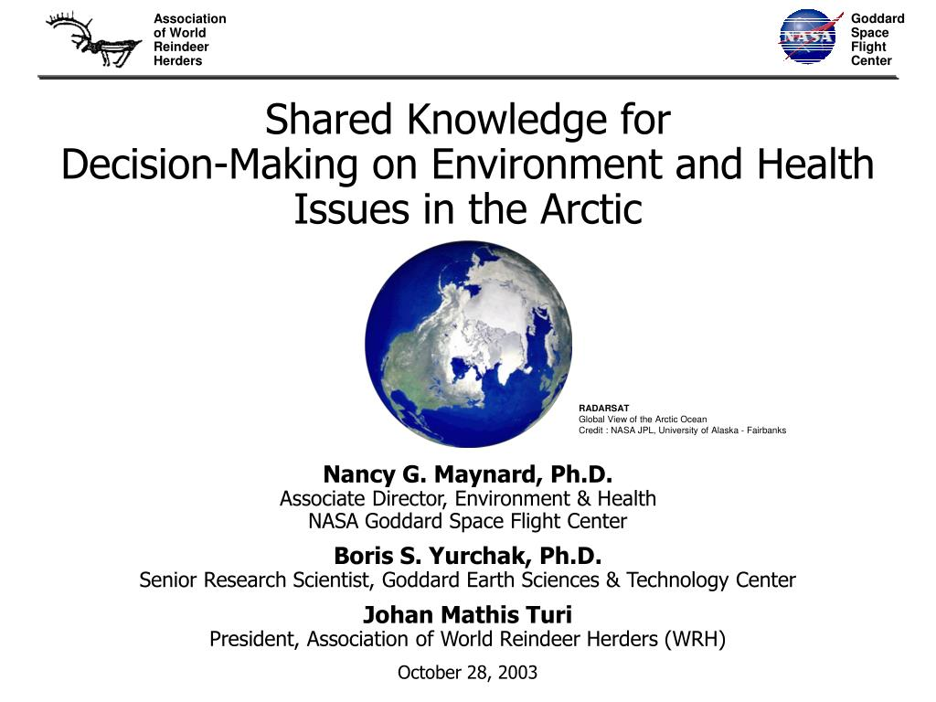 shared knowledge for decision making on environment and health issues in the arctic