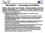 why nasa technology possibilities