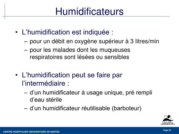 Humidificateurs