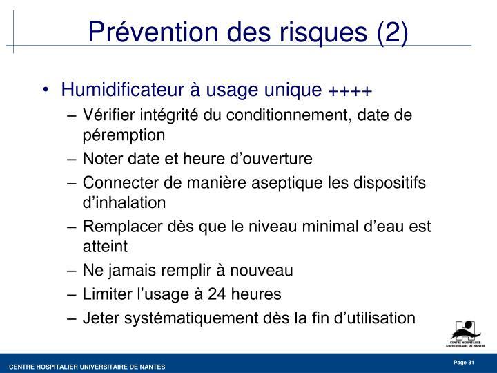 Prévention des risques (2)