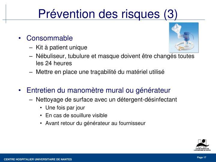 Prévention des risques (3)
