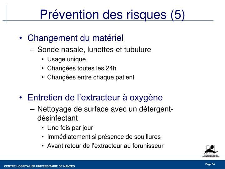 Prévention des risques (5)