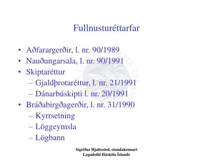 Fullnustur ttarfar1