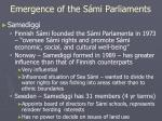 emergence of the s mi parliaments