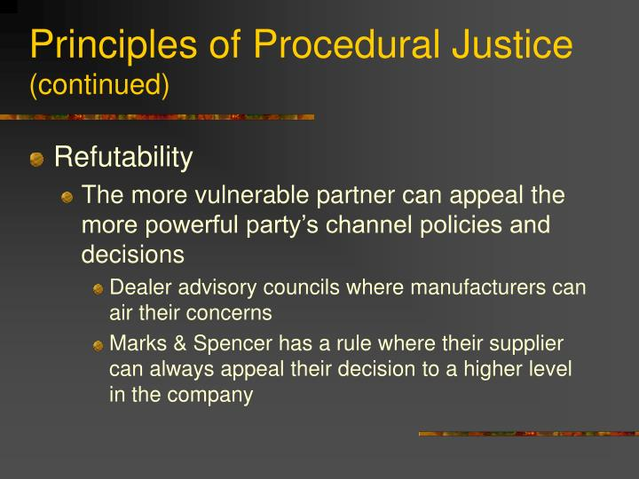 Principles of Procedural Justice