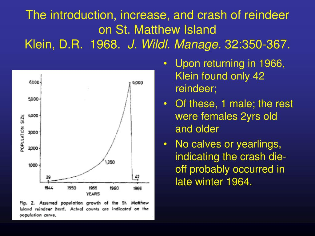 The introduction, increase, and crash of reindeer on St. Matthew Island