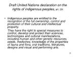 draft united nations declaration on the rights of indigenous peoples art 29