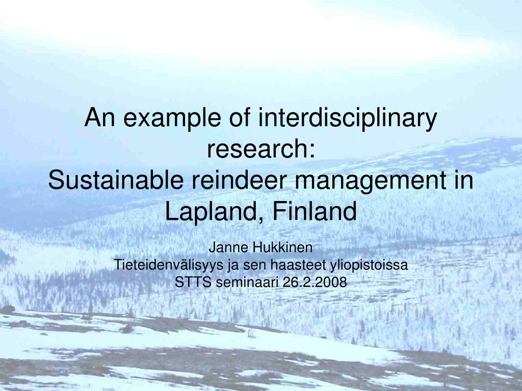 An example of interdisciplinary research: