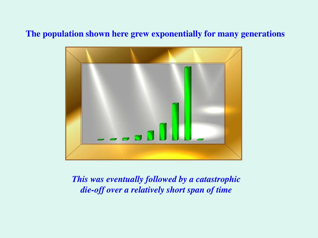 The population shown here grew exponentially for many generations