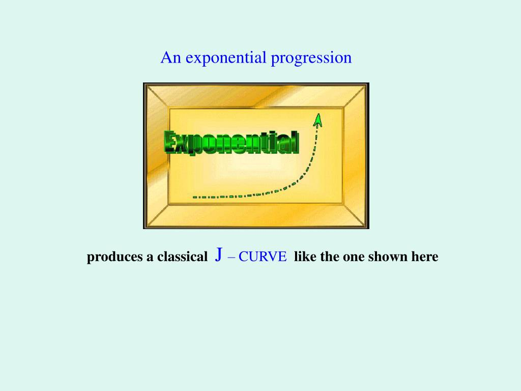 An exponential progression
