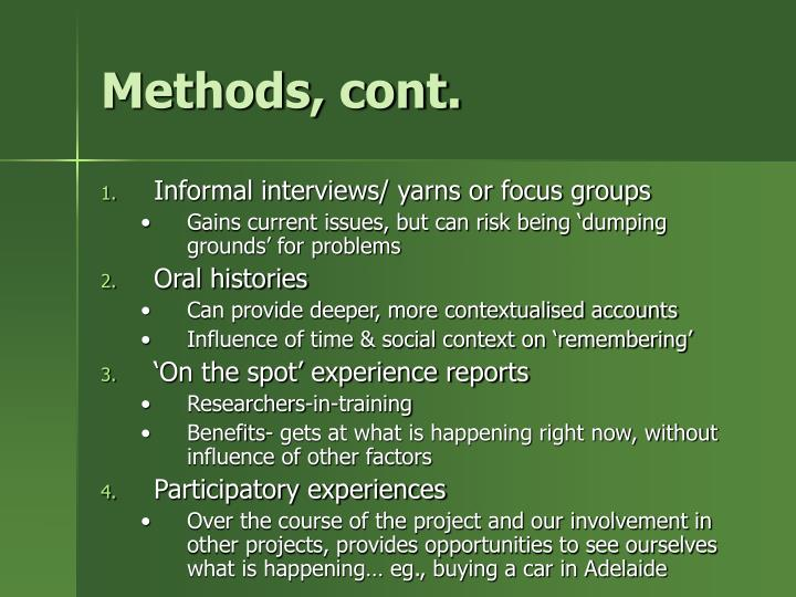Methods, cont.