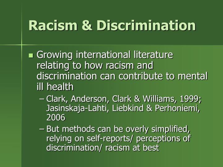 Racism & Discrimination