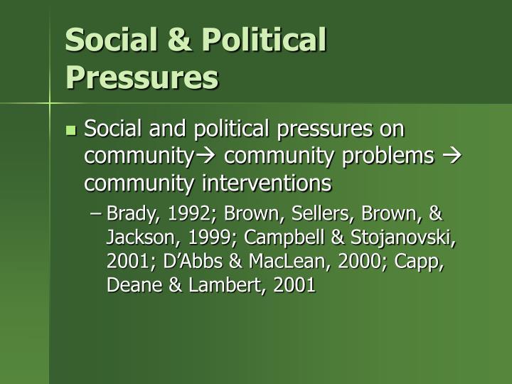 Social & Political Pressures