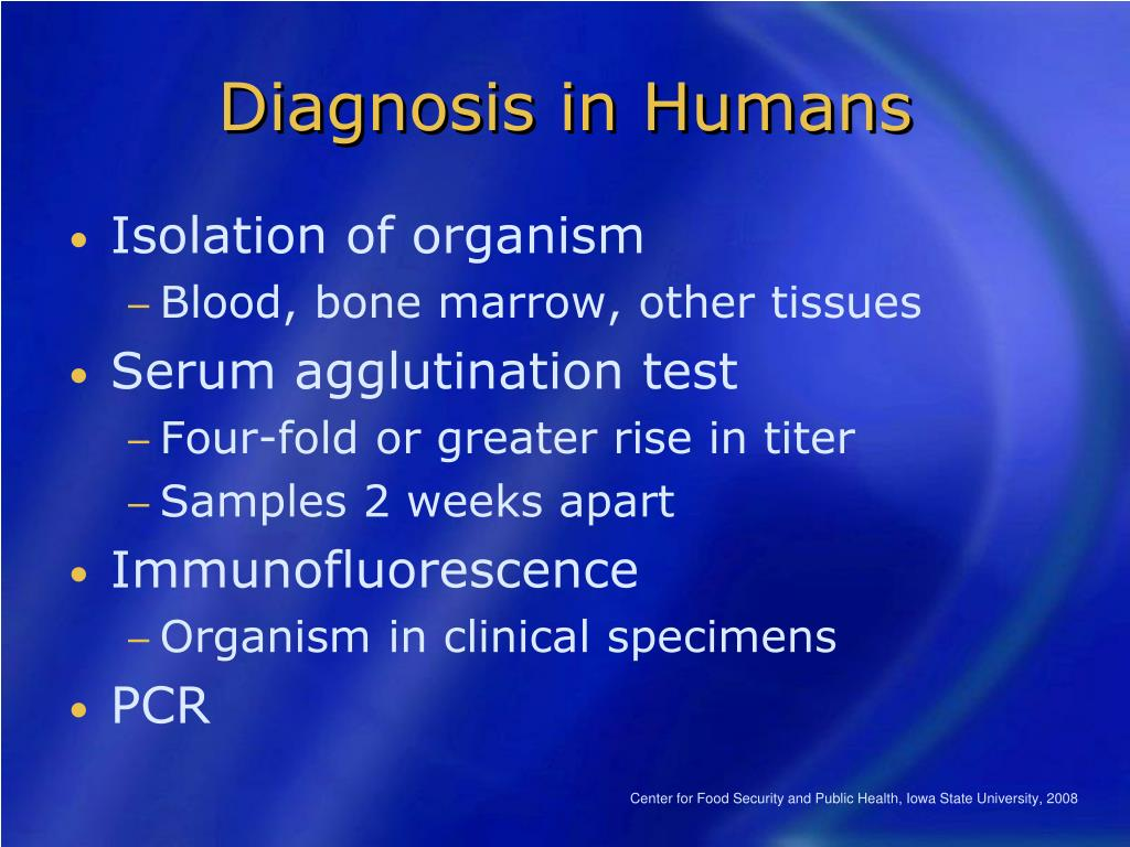 Diagnosis in Humans