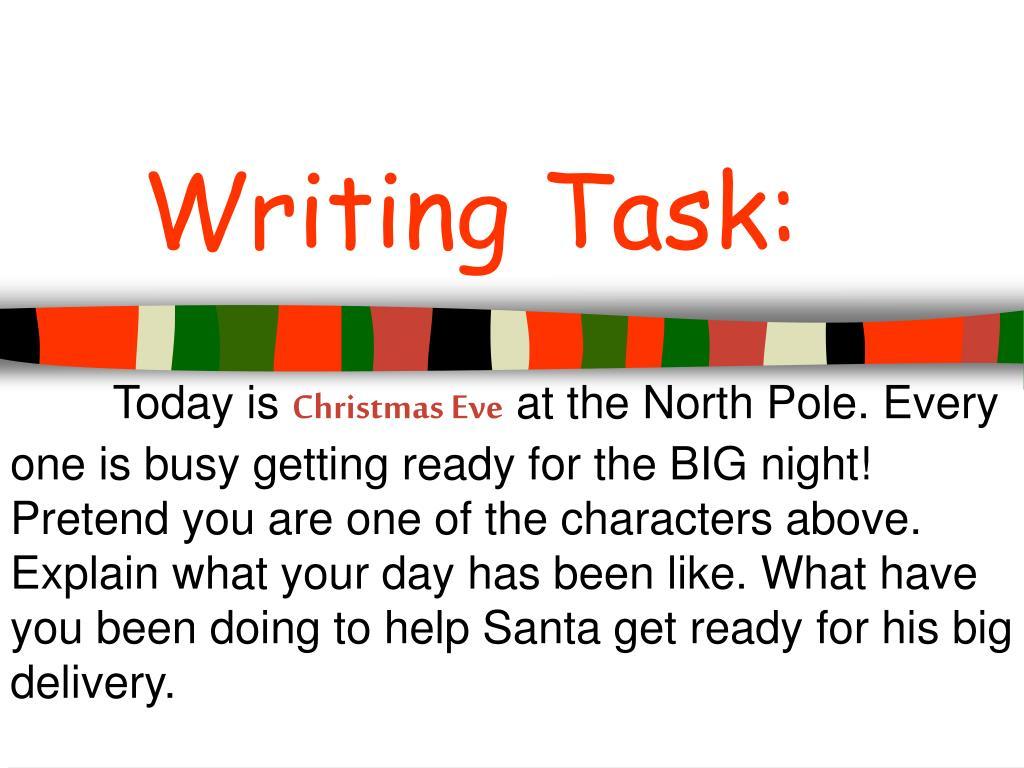 Writing Task: