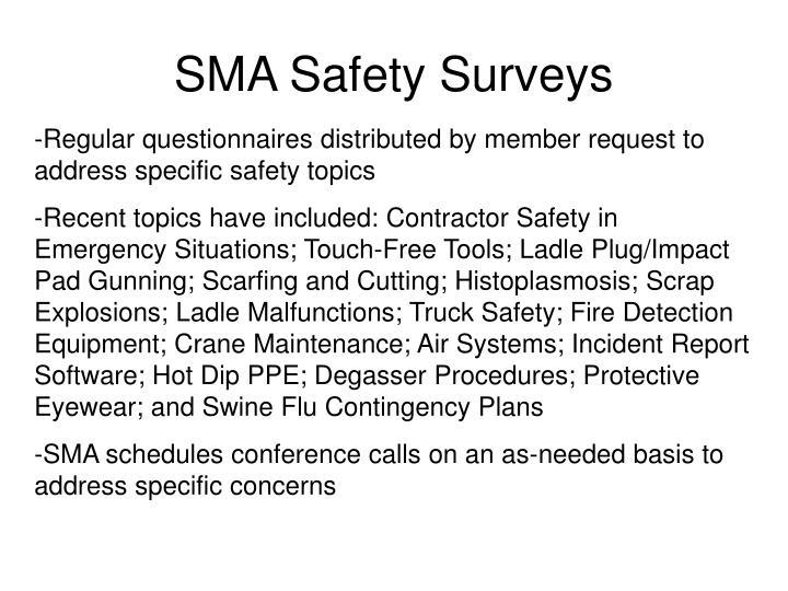 SMA Safety Surveys