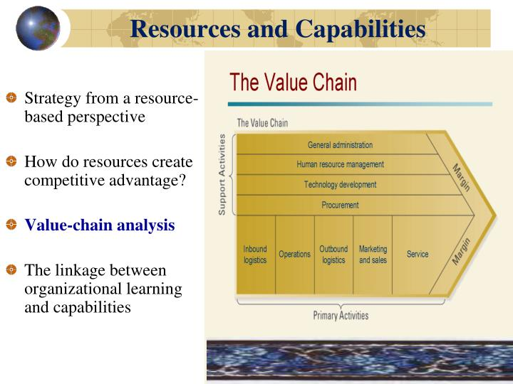 strategic management and value chain analysis Main aspects of value chain analysis value chain analysis is a powerful tool for managers to identify the key activities within the firm which form the value chain for that organisation, and have the potential of a sustainable competitive advantage for a company.