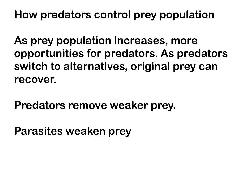 How predators control prey population