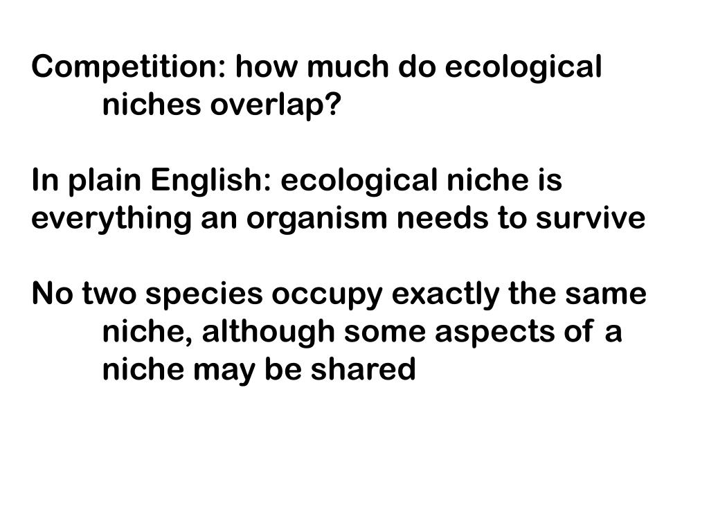 Competition: how much do ecological