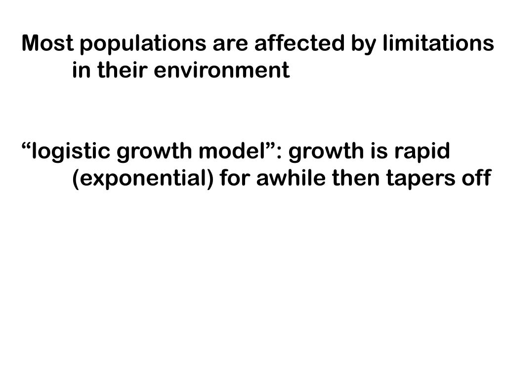 Most populations are affected by limitations