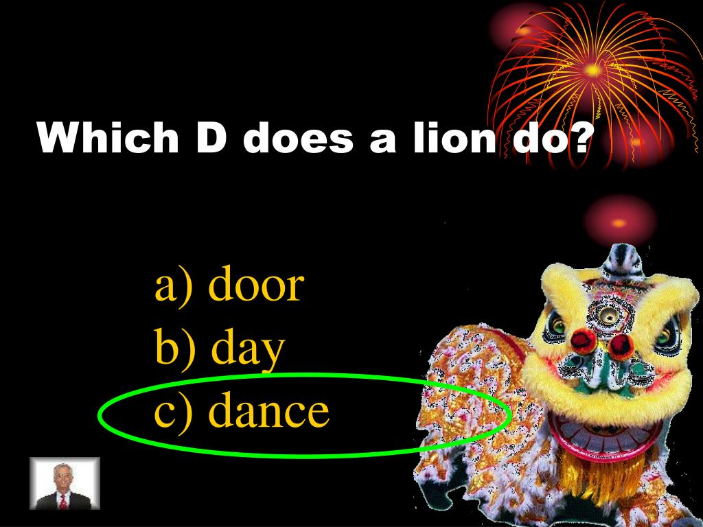 Which D does a lion do?