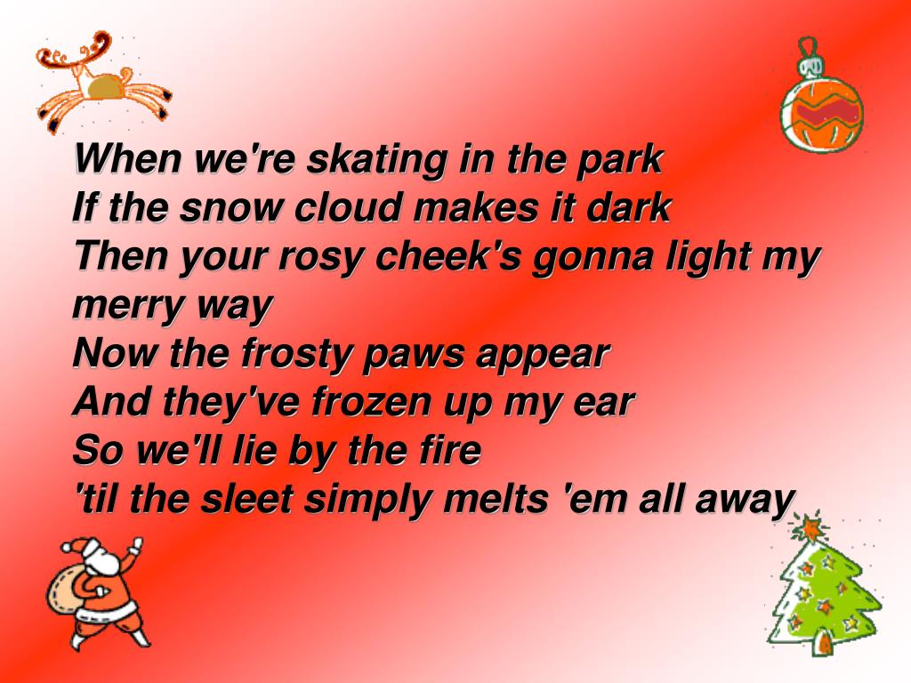 When we're skating in the park