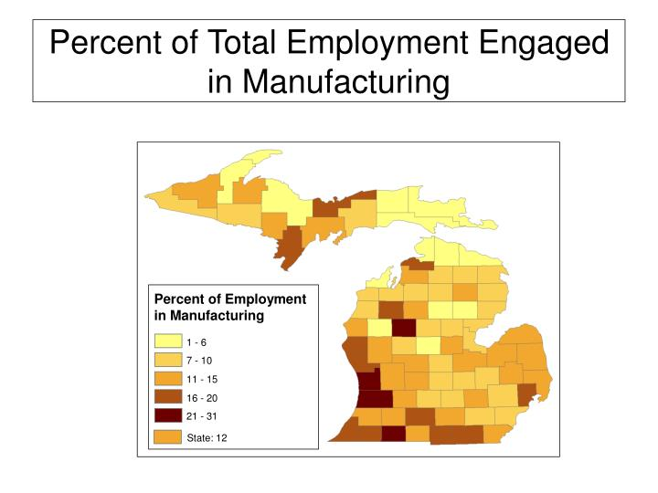 Percent of Employment in Manufacturing