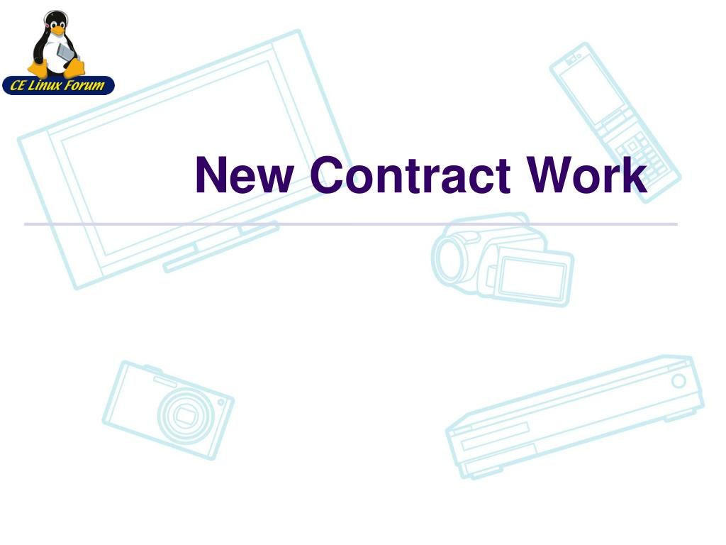New Contract Work