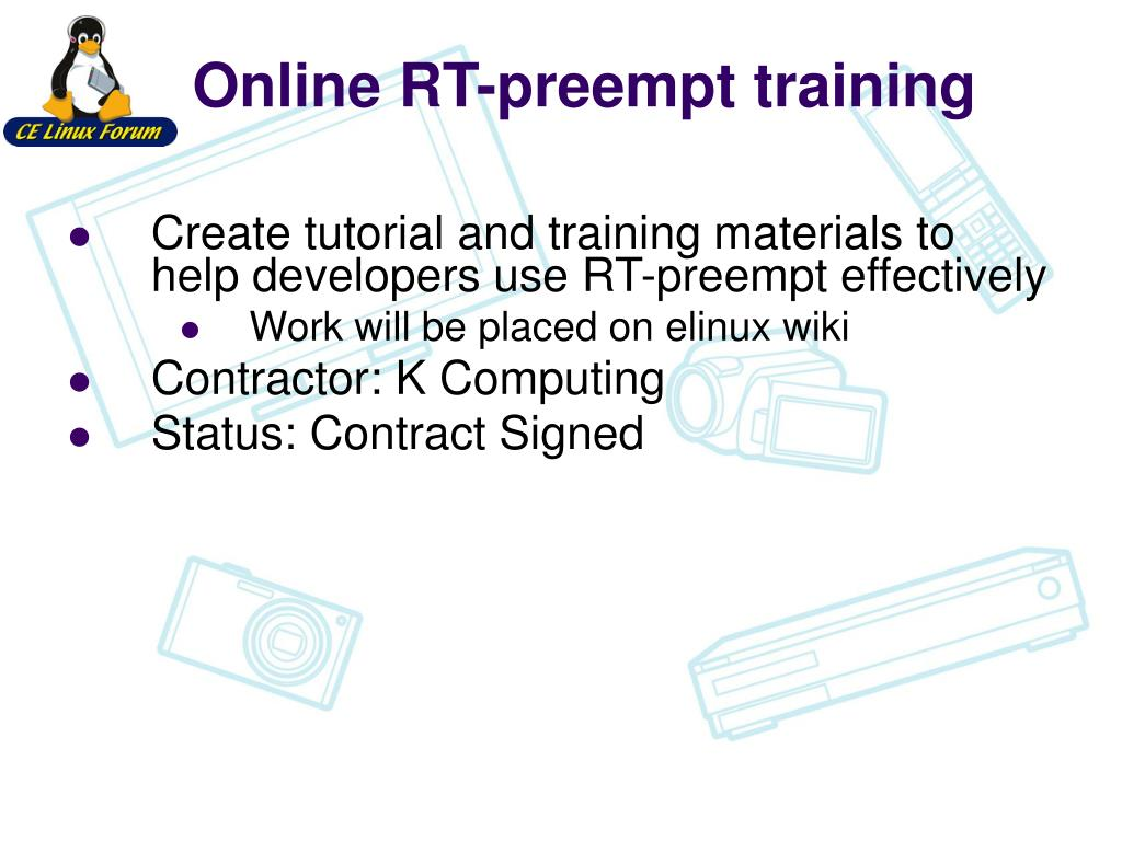 Online RT-preempt training