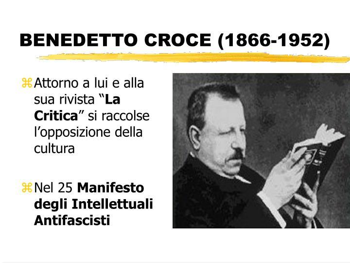 BENEDETTO CROCE (1866-1952)