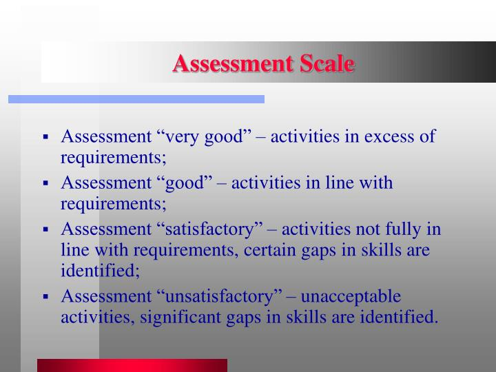 Assessment Scale