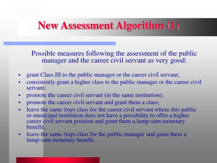 New Assessment Algorithm (1)