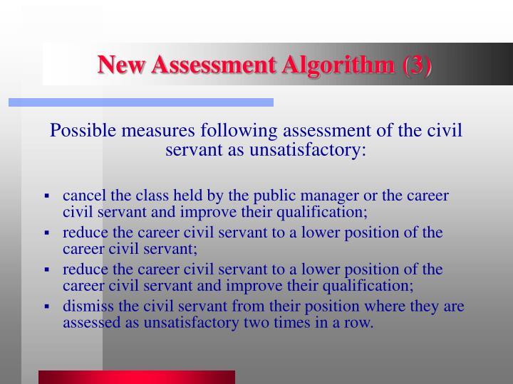 New Assessment Algorithm (3)